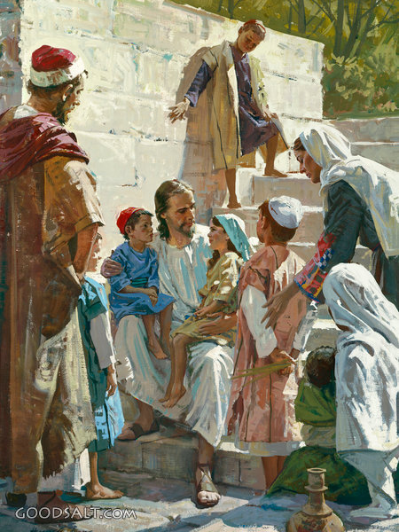 Jesus With Children Christian Wall Art